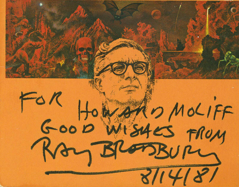 Image 1 for Ray Bradbury - Autograph Note Signed 08/14/1981 - HFSID 287827