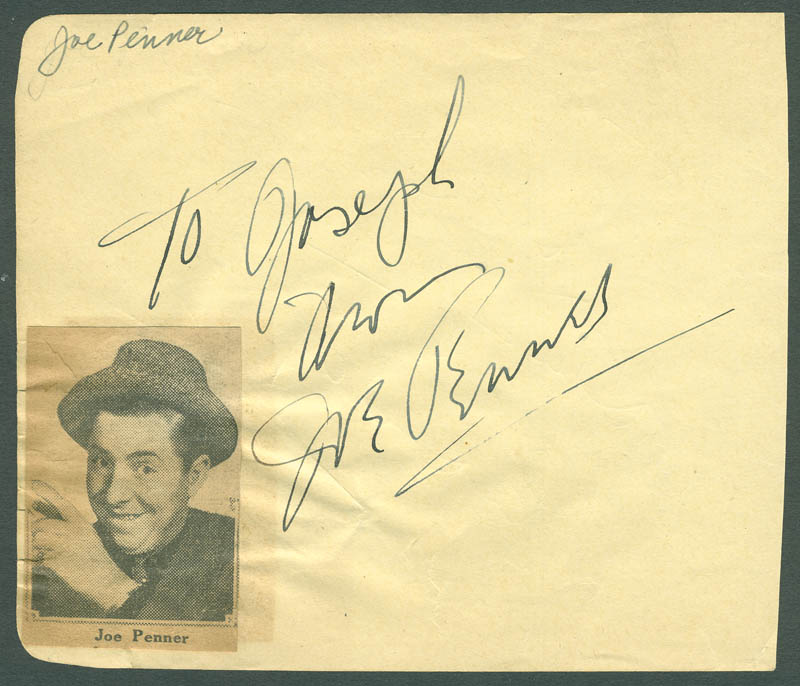 Image 3 for John Barrymore Sr. - Autograph Sentiment Signed co-signed by: Joe Penner - HFSID 287829