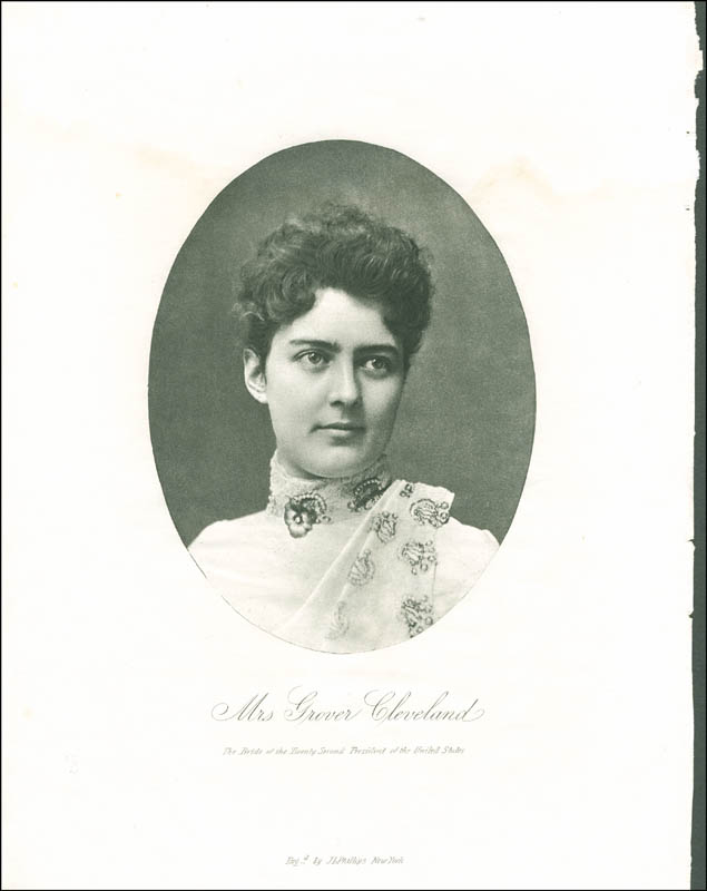 Image 3 for First Lady Frances F. Cleveland - Photograph Unsigned - HFSID 287837