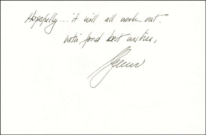 Image 1 for Glenn Close - Autograph Letter Signed 01/08/1990 - HFSID 287915