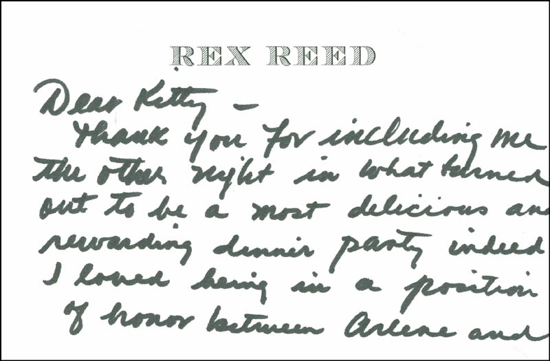 Image 3 for Rex Reed - Autograph Letter Signed - HFSID 287924