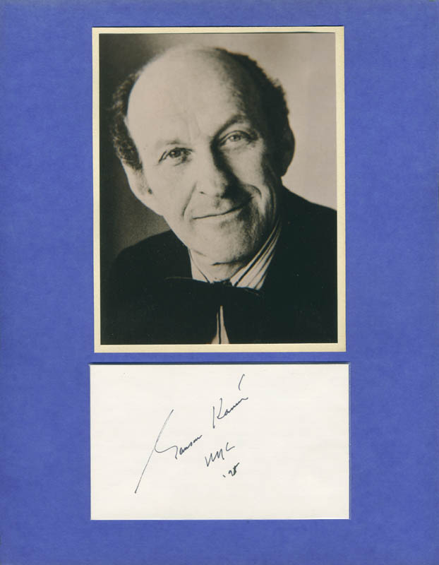 Image 1 for Garson Kanin - Autograph Sentiment Signed 1995 - HFSID 287934