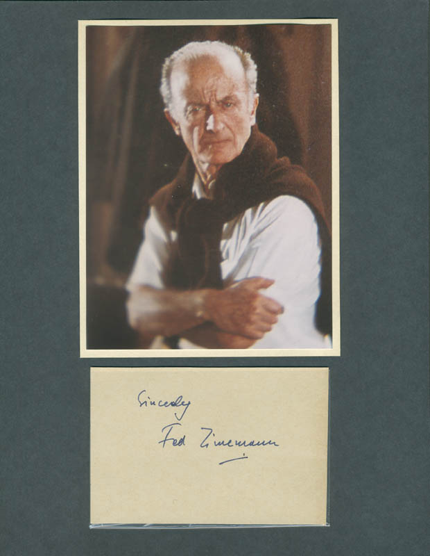 Image 1 for Fred Zinnemann - Autograph Sentiment Signed - HFSID 287948