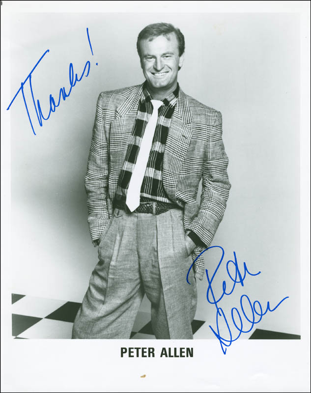Image 1 for Peter Allen - Autographed Signed Photograph - HFSID 288024