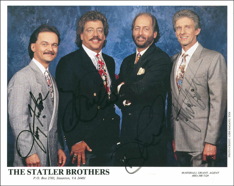 Image 1 for The Statler Brothers - Autographed Signed Photograph with co-signers - HFSID 288036