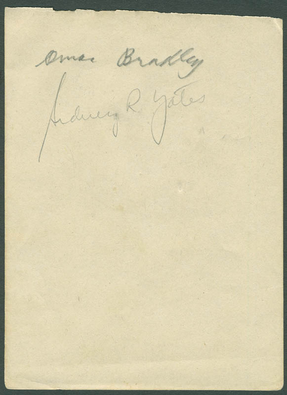 Image 1 for General Omar N. Bradley - Autograph co-signed by: Sidney Richard Yates, Bettye Mims Danoff - HFSID 288060