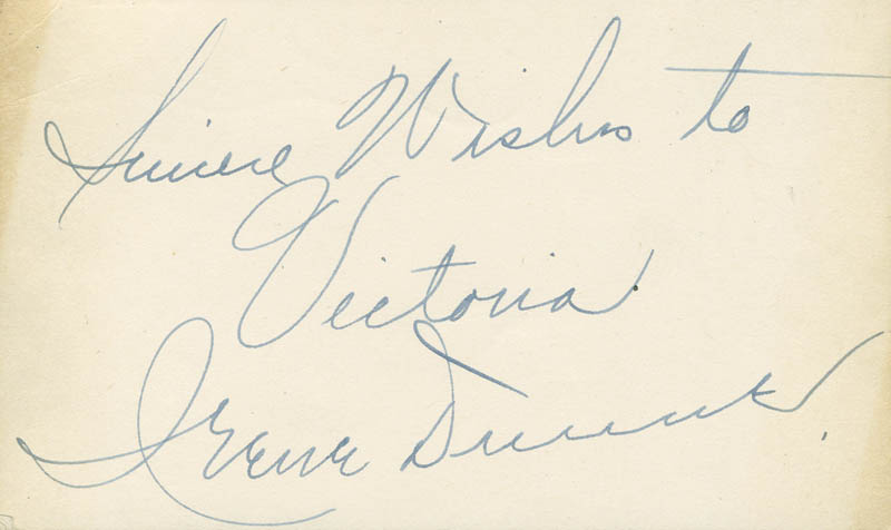 Image 1 for Irene Dunne - Autograph Note Signed - HFSID 288062