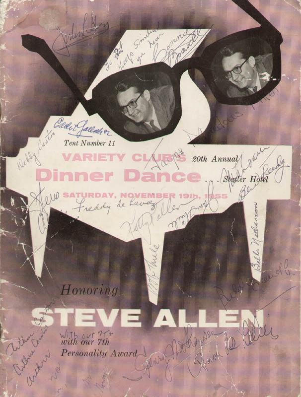 Image 1 for Steve Allen - Program Signed Circa 1955 with co-signers - HFSID 288083