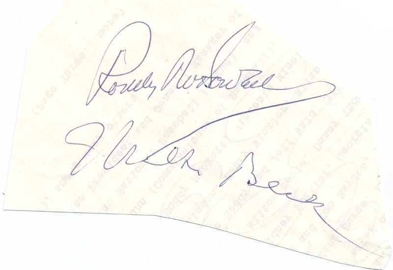 Image 1 for Milton Berle - Autograph co-signed by: Roddy Mcdowall - HFSID 28813