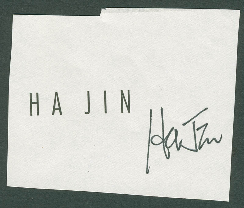 Image 1 for Ha Jin - Autograph - HFSID 288147