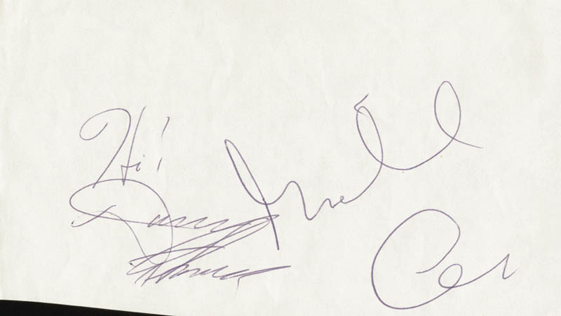 Image 1 for Michael Caine - Autograph co-signed by: Danny Thomas - HFSID 28816