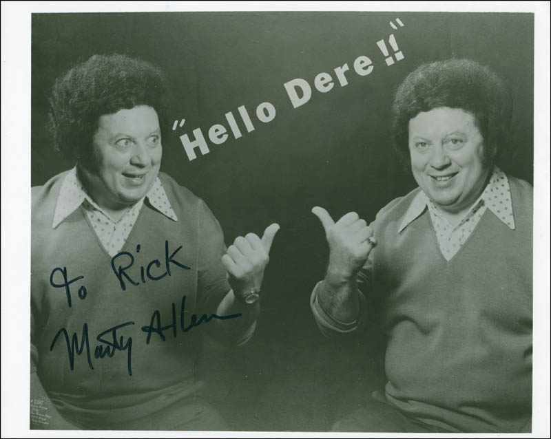 Image 1 for Marty Allen - Autographed Inscribed Photograph - HFSID 288214