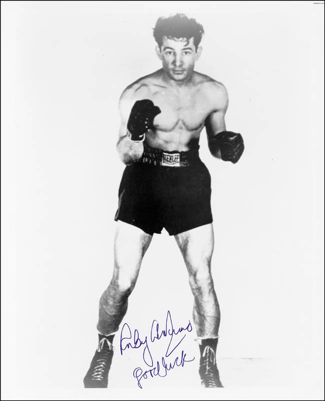 Image 1 for Rocky Graziano - Autographed Signed Photograph - HFSID 28824
