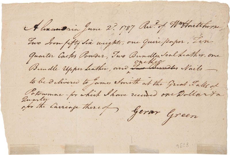 Image 3 for President George Washington - Document Signed 10/18/1787 co-signed by: John Fitzgerald, George Gilpin, Gerrard Green - HFSID 288292