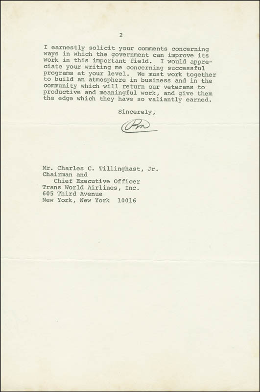 Image 3 for President Richard M. Nixon - Typed Letter Signed 07/01/1971 - HFSID 288331