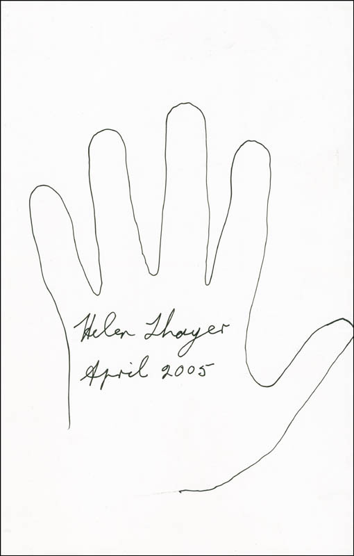 Image 1 for Helen Thayer - Hand/Foot Print Or Sketch Signed 4/2005 - HFSID 288375