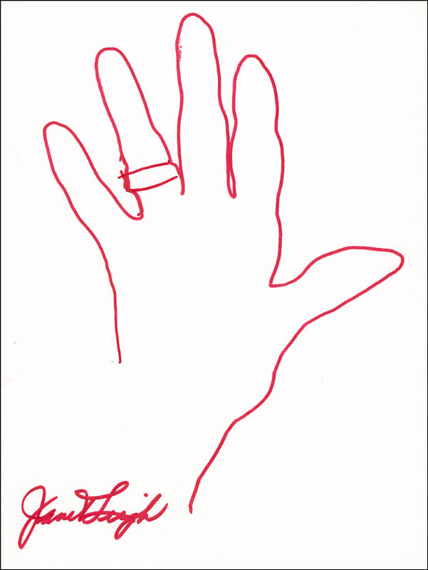Image 1 for Janet Leigh - Hand/Foot Print Or Sketch Signed - HFSID 288377