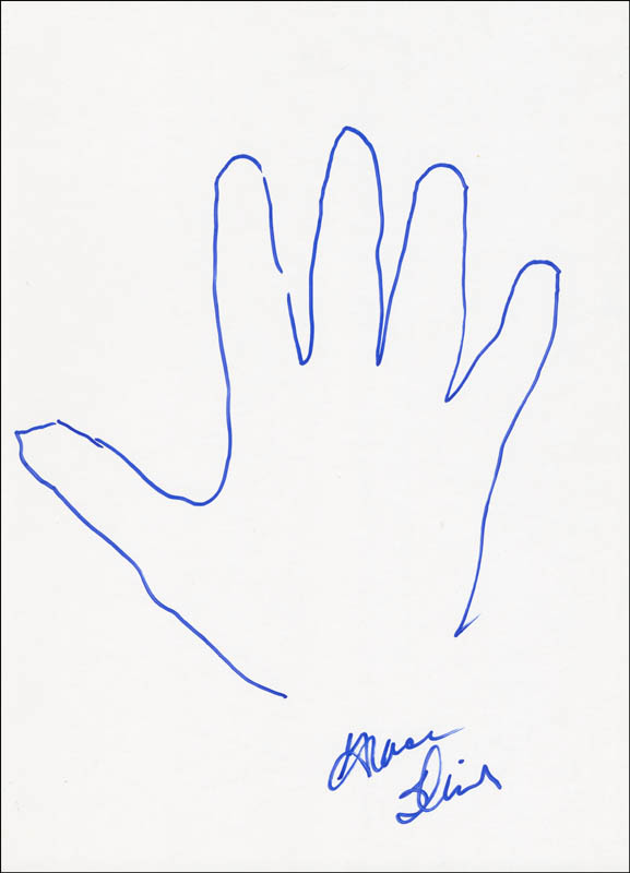 Image 1 for Jefferson Airplane (Grace Slick) - Hand/Foot Print Or Sketch Signed - HFSID 288407