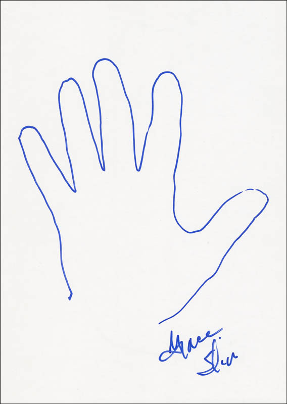Image 1 for Jefferson Airplane (Grace Slick) - Hand/Foot Print Or Sketch Signed - HFSID 288408