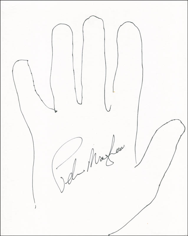 Image 1 for Peter 'Chewbacca' Mayhew - Hand/Foot Print Or Sketch Signed - HFSID 288417