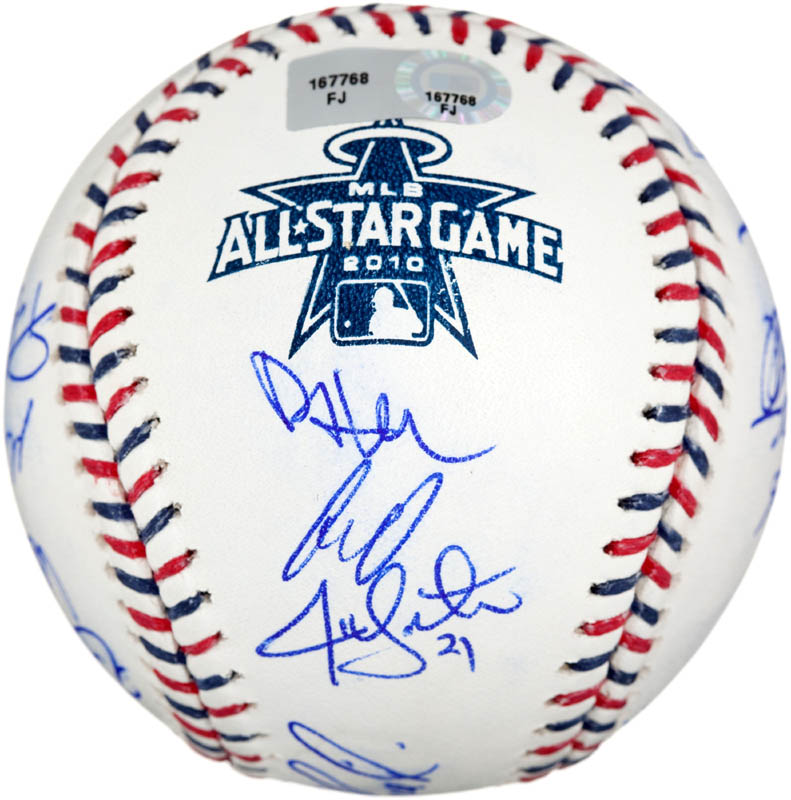 Image 6 for 2010 American League All Star Team - Autographed Signed Baseball with co-signers - HFSID 288566