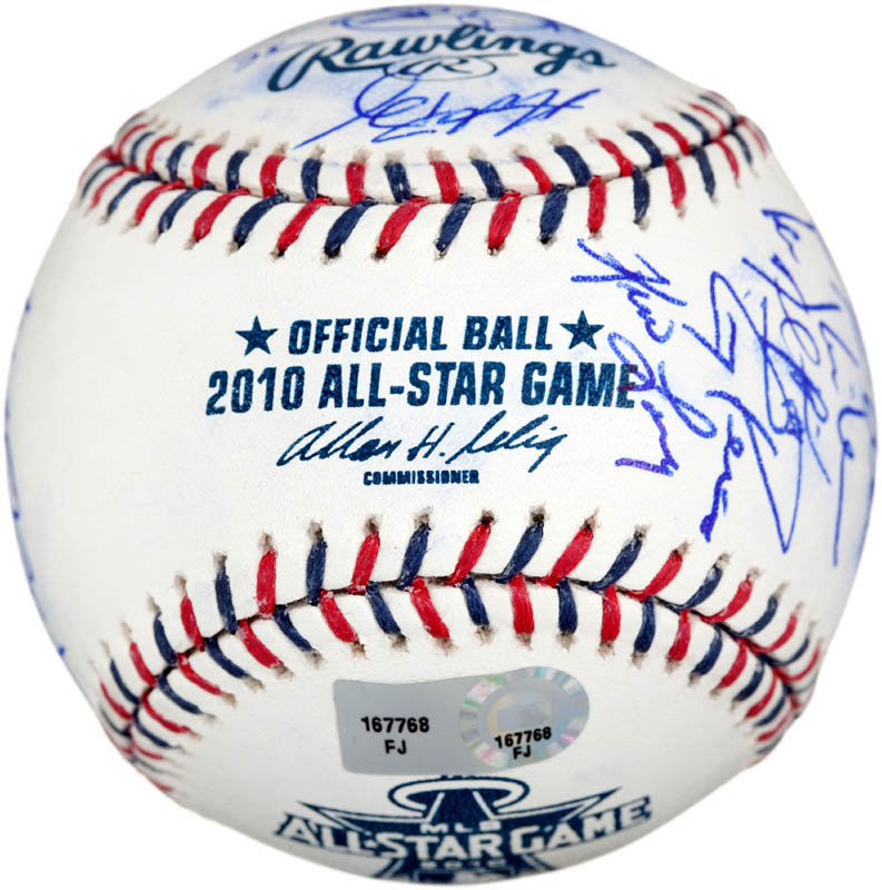 Image 7 for 2010 American League All Star Team - Autographed Signed Baseball with co-signers - HFSID 288566