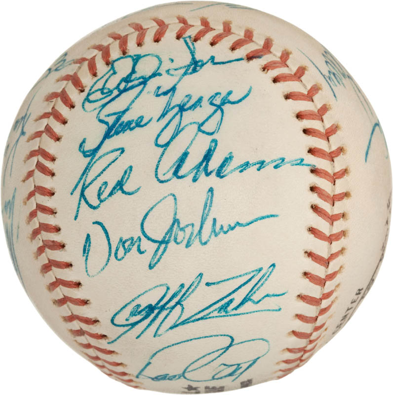 Image 3 for The Los Angeles Dodgers - Autographed Signed Baseball with co-signers - HFSID 288574