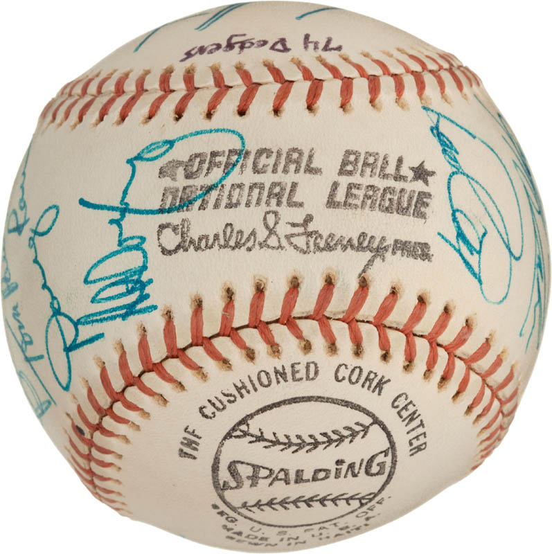 Image 7 for The Los Angeles Dodgers - Autographed Signed Baseball with co-signers - HFSID 288574
