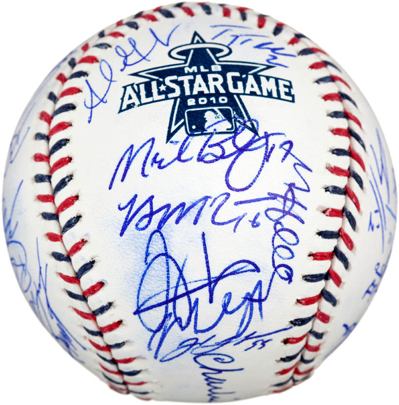 Image 6 for 2010 National League All Star Team - Autographed Signed Baseball with co-signers - HFSID 288577