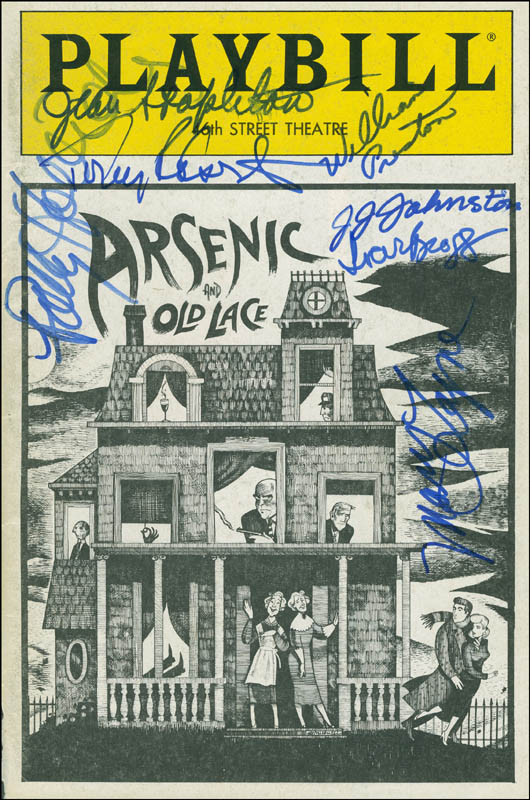 Image 1 for Arsenic And Old Lace Play Cast - Show Bill Cover Signed with co-signers - HFSID 288704