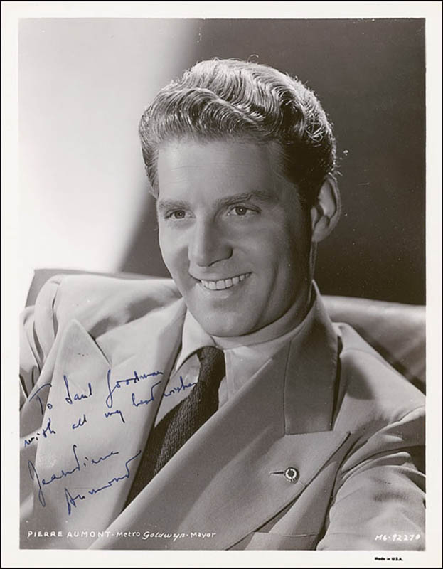 Image 1 for Jean-pierre Aumont - Autographed Inscribed Photograph Circa 1943 - HFSID 289066