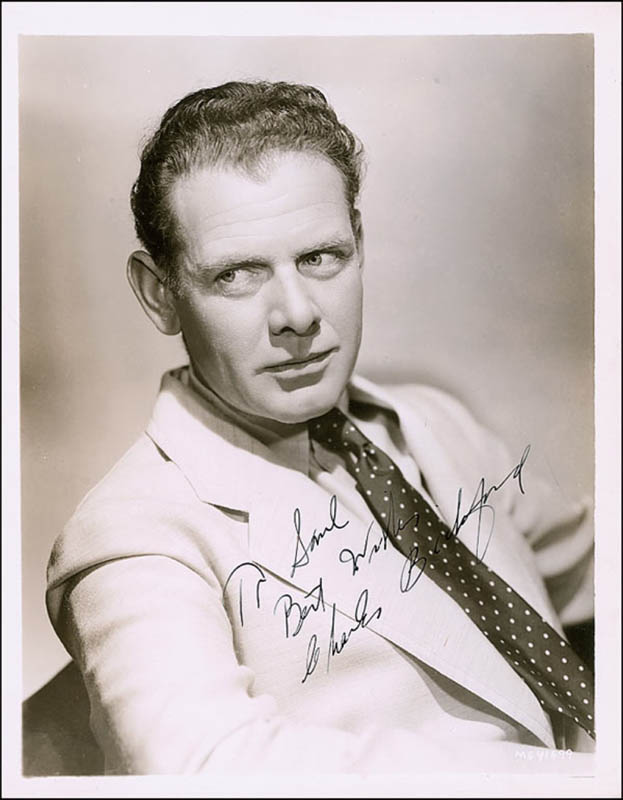 Image 1 for Charles Bickford - Autographed Inscribed Photograph Circa 1938 - HFSID 289069