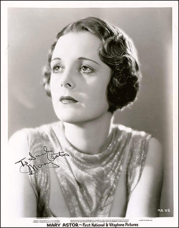 Image 1 for Mary Astor - Autographed Inscribed Photograph Circa 1940 - HFSID 289077