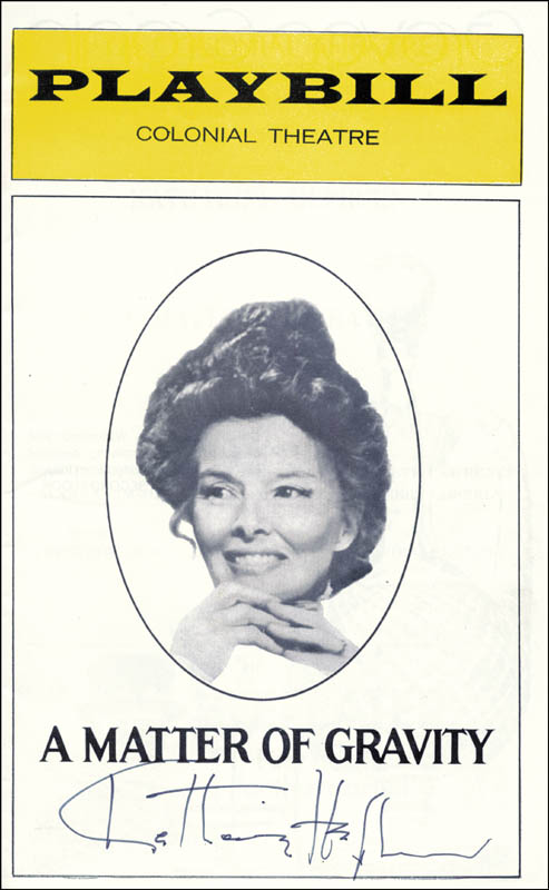 Image 1 for Katharine Hepburn - Show Bill Signed Circa 1975 - HFSID 28908