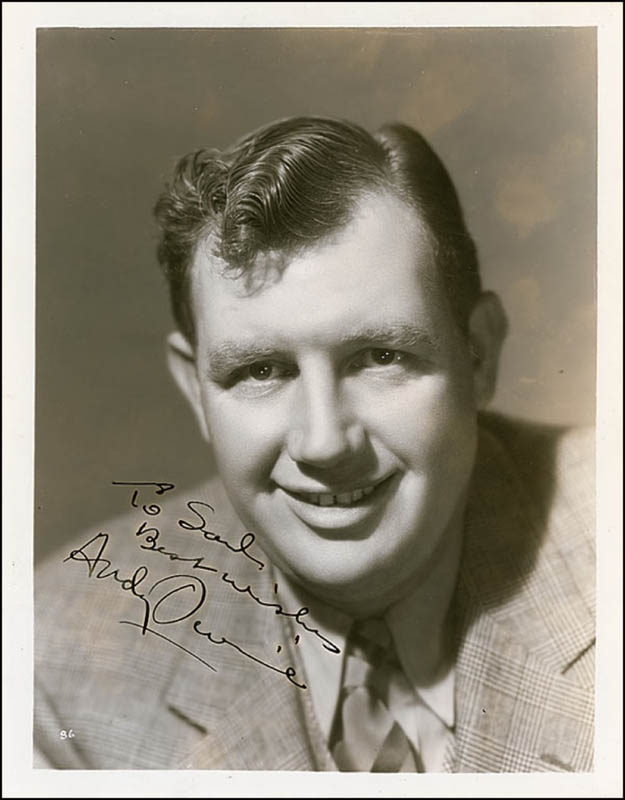Image 1 for Andy Devine - Autographed Inscribed Photograph Circa 1939 - HFSID 289134