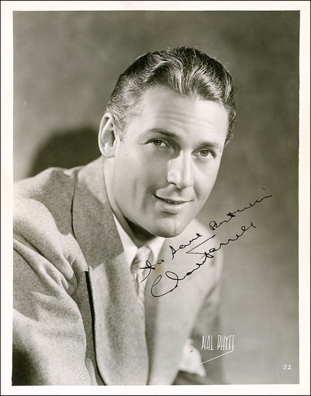 Image 1 for Charles Farrell - Autographed Inscribed Photograph Circa 1939 - HFSID 289312