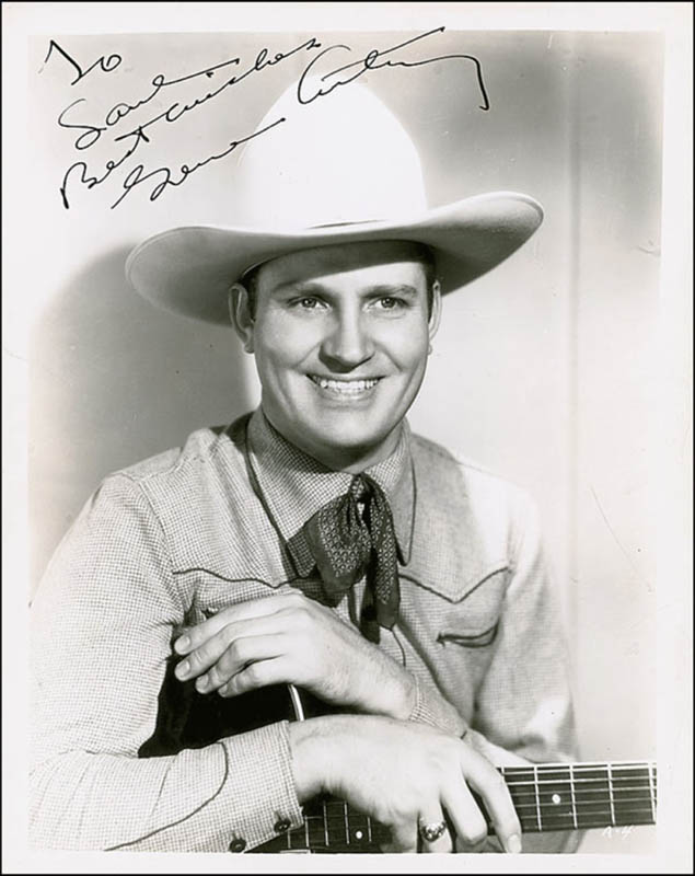 Image 1 for Gene Autry - Autographed Inscribed Photograph - HFSID 289313