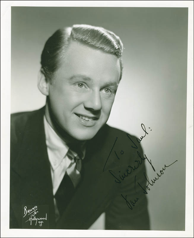 Image 1 for Van Johnson - Autographed Inscribed Photograph Circa 1941 - HFSID 289358