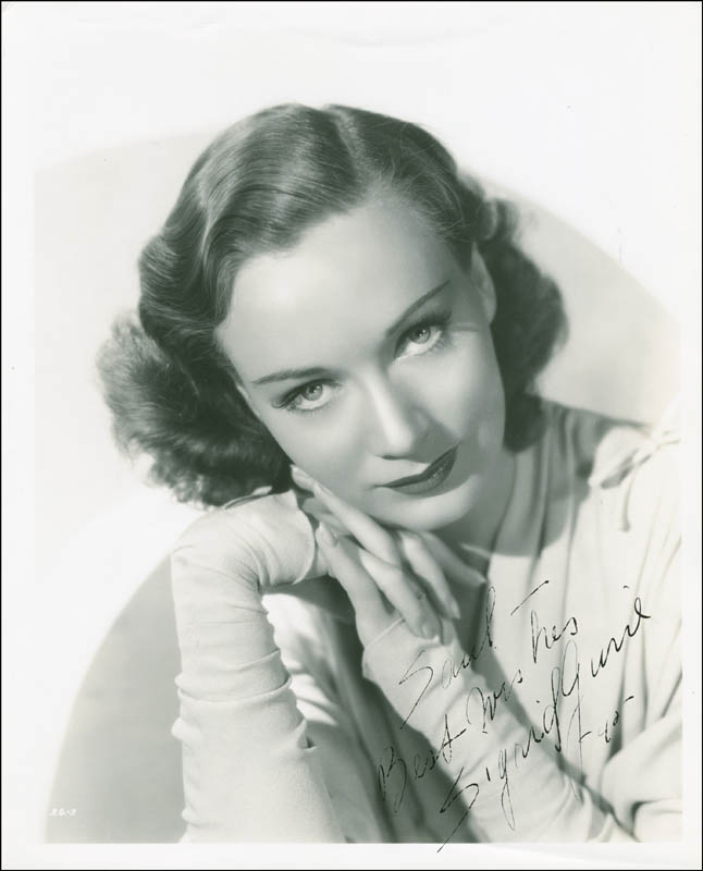 Image 1 for Sigrid Gurie - Autographed Inscribed Photograph 1940 - HFSID 289377