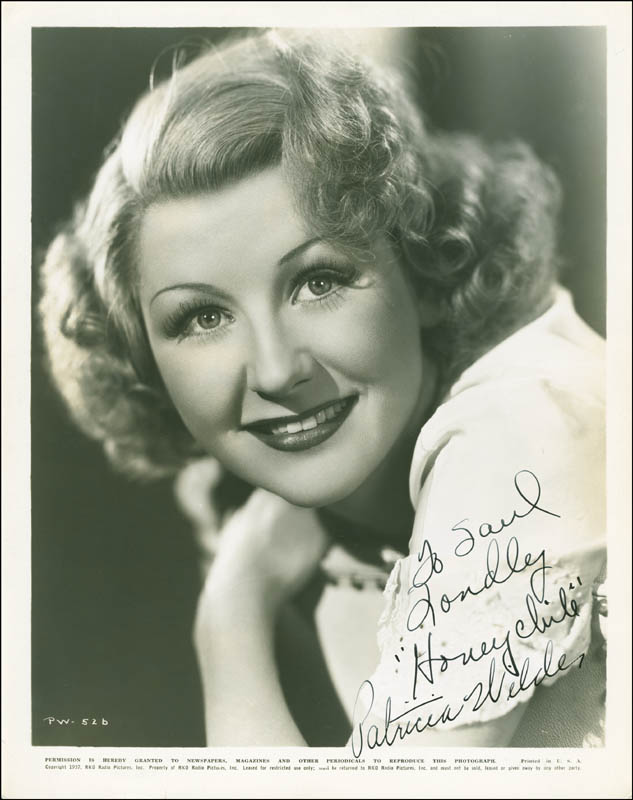Patricia Wilder Inscribed Photograph Signed Circa