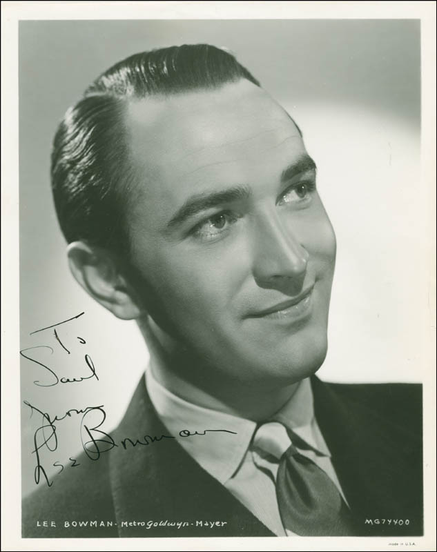 Image 1 for Lee Bowman - Autographed Inscribed Photograph Circa 1943 - HFSID 289479