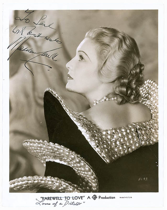 Image 1 for Madeleine Carroll - Inscribed Printed Photograph Signed In Ink Circa 1936 - HFSID 289488