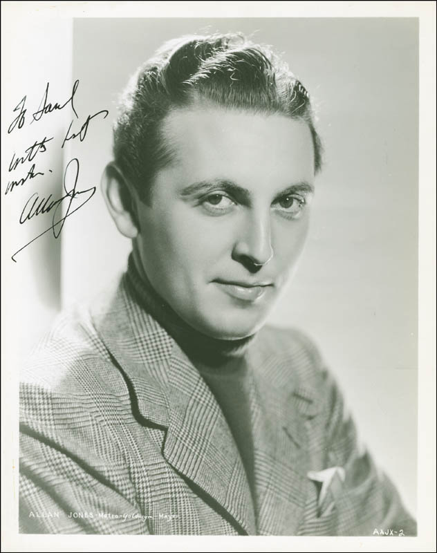 Image 1 for Allan Jones - Autographed Inscribed Photograph Circa 1936 - HFSID 289528