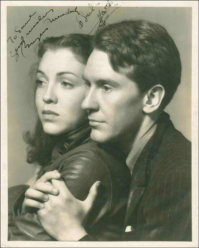 Image 1 for Winterset Movie Cast - Autographed Inscribed Photograph Circa 1936 co-signed by: Burgess Meredith, Margo (Margo Albert) - HFSID 289556
