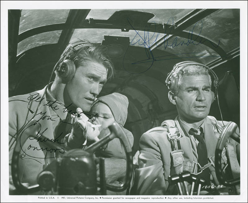 Image 1 for The Lady Takes A Flyer Movie Cast - Autographed Signed Photograph co-signed by: Jeff Chandler, Chuck Connors - HFSID 289591