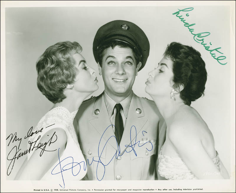 Image 1 for The Perfect Furlough Movie Cast - Autographed Signed Photograph co-signed by: Tony Curtis, Linda Cristal, Janet Leigh - HFSID 289615