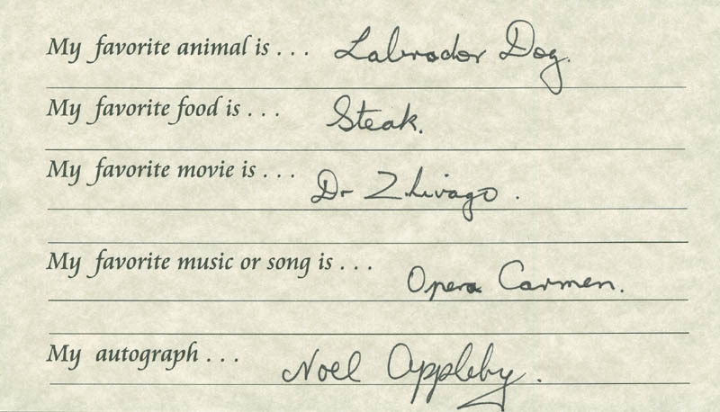 Image 1 for Noel Appleby - Questionnaire Signed - HFSID 289679