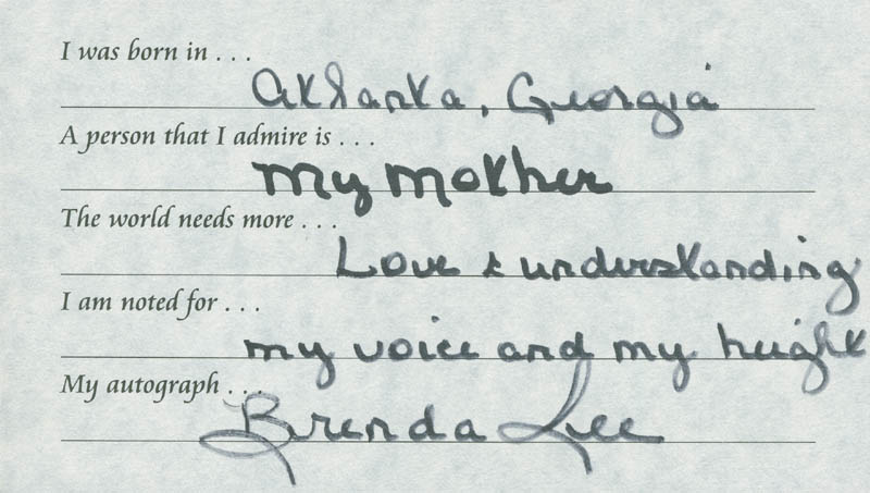 Image 1 for Brenda Lee - Questionnaire Signed - HFSID 289682