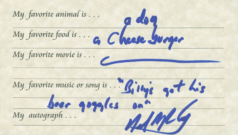 Image 1 for Neal Mccoy - Questionnaire Signed - HFSID 289690