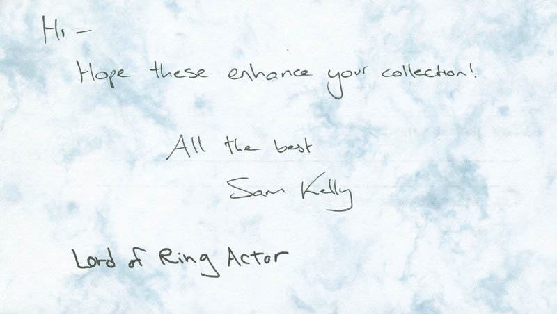 Image 3 for Sam Kelly - Questionnaire Signed - HFSID 289710